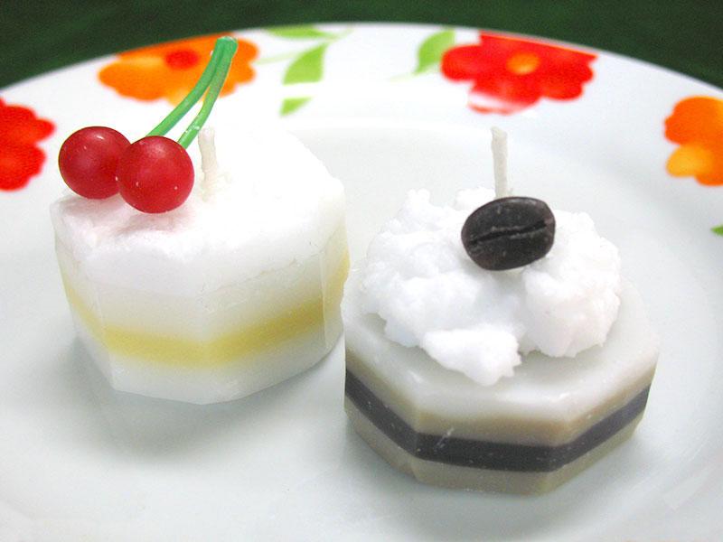 スイーツキャンドル(ケーキ)の作品例