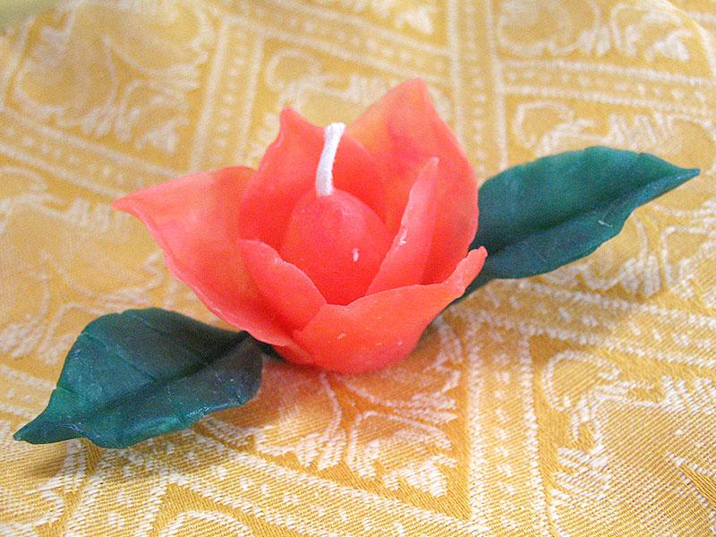 バラの花キャンドルの作品例