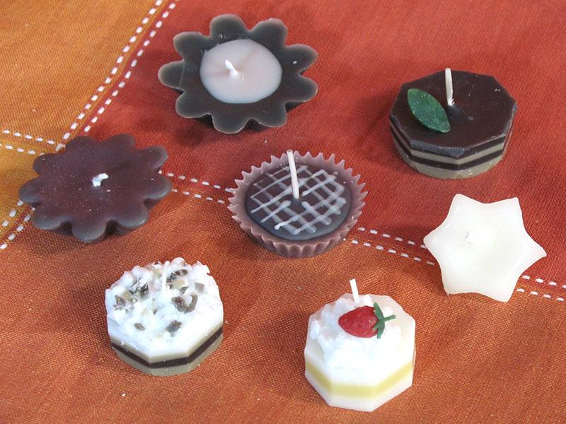 チョコレートキャンドルの作品例