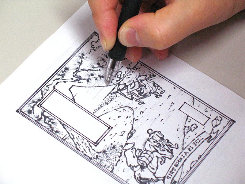 銅版画でグリーティングカード作り(STEP1)