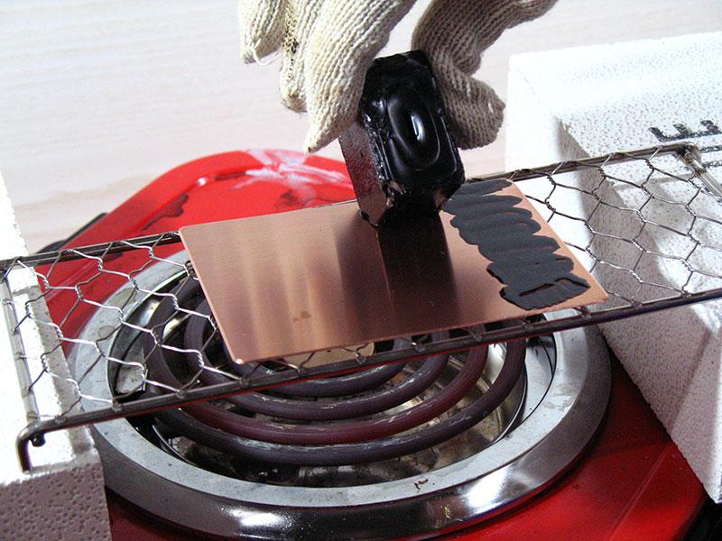 銅版画でグリーティングカード作り(STEP2)