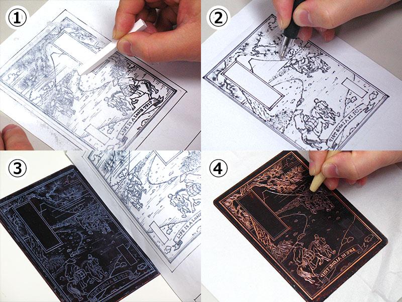 銅版画でグリーティングカード作り(STEP3)