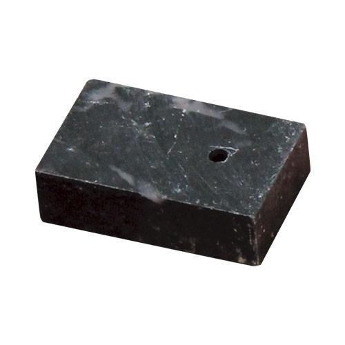 勾玉作りセット〈石単品〉穴あき済勾玉用石 黒×ピンク(マーブル)