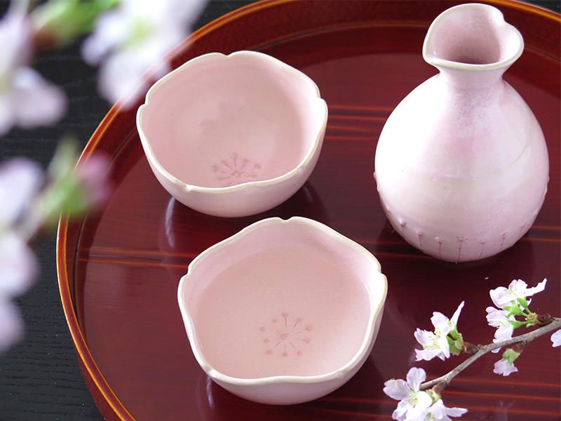 『桜花窯変釉』で桜色の酒器を作ろう♪