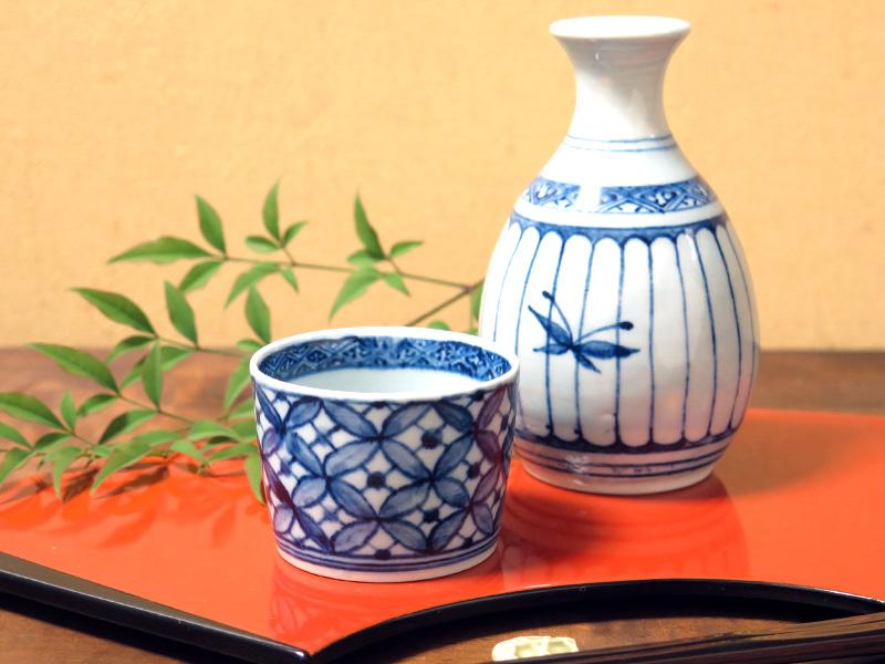 『呉須絵の具』で、染付けのぐい呑みを作ろう!