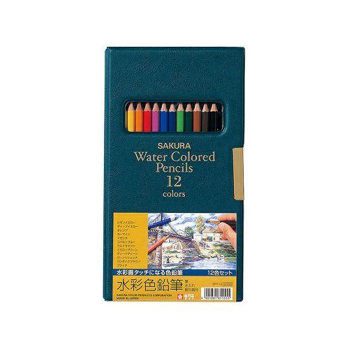 サクラ水彩色鉛筆 12色(ソフトケース入)