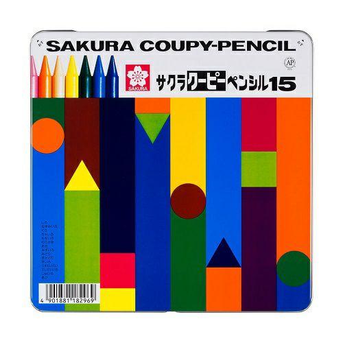 サクラクーピーペンシル 15色 缶入